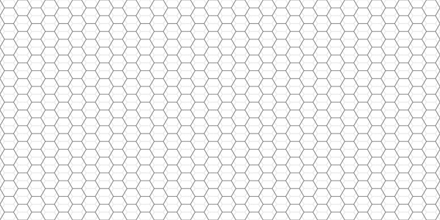 Sechsecke abstrakter rasterhintergrund. graues sechskantmuster mit subtilen polygonen. lineare geometrische textur. sechseckige vektorillustration.