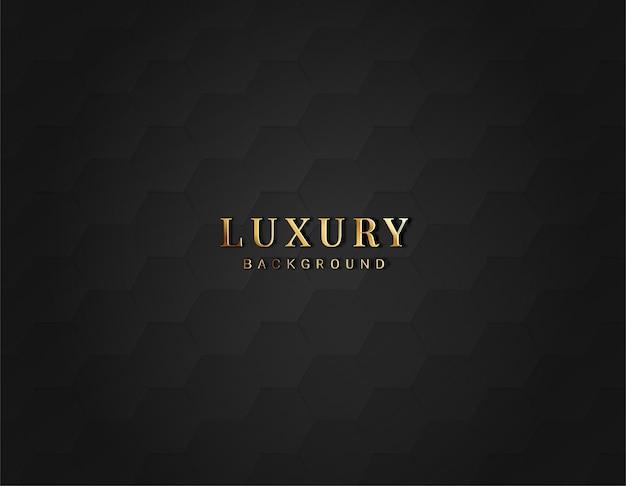 Sechseckiger dunkler luxushintergrund mit verlaufsfarbe