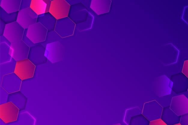 Sechseckiger hintergrund mit farbverlauf