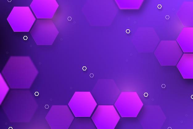 Sechseckiger hintergrund mit lila farbverlauf