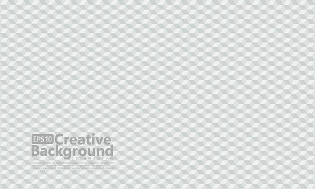 Sechseckiger würfel formt geometrische, weiße farbe.