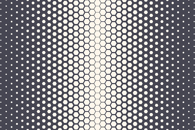 Sechseckiges halbtonmuster geometrische textur technologie abstrakter hintergrund