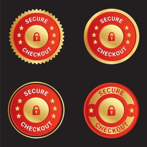 Secure checkout vector trusts badge logo