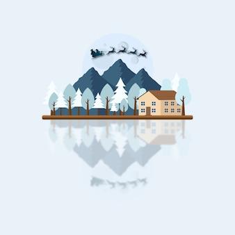 See und berglandschaft