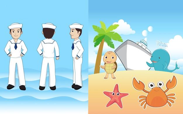 Seemann und freund