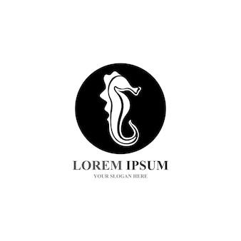 Seepferdchen-logo und symbolsymbol-vektoren
