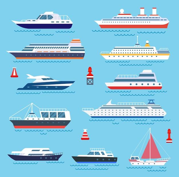 Seeschiffe gesetzt