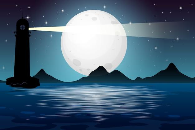 Seestück in der nachtszene