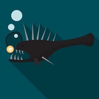 Seeteufel flachbild symbol isoliert vectro zeichensymbol