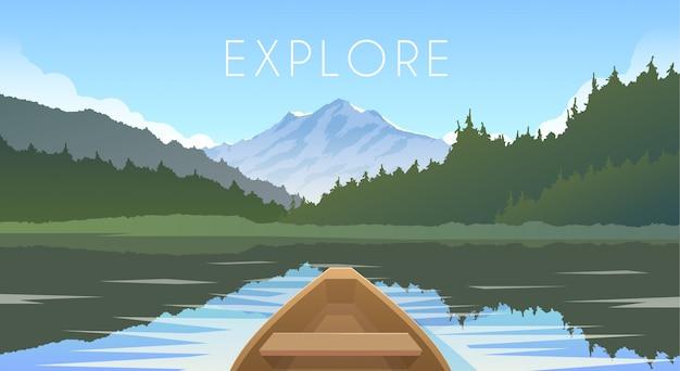 Segelboot. berglandschaft.