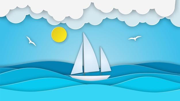 Segelboot im meer.