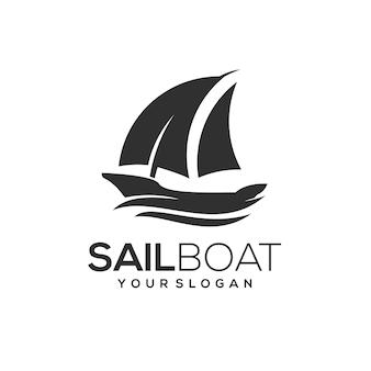 Segelboot-logo-vorlage