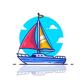 Segelboot symbol illustration. wassertransport-symbol-konzept.
