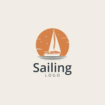 Segeln yachtboot schiff logo vorlage