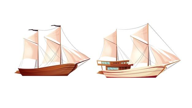 Segelschiff cartoon.