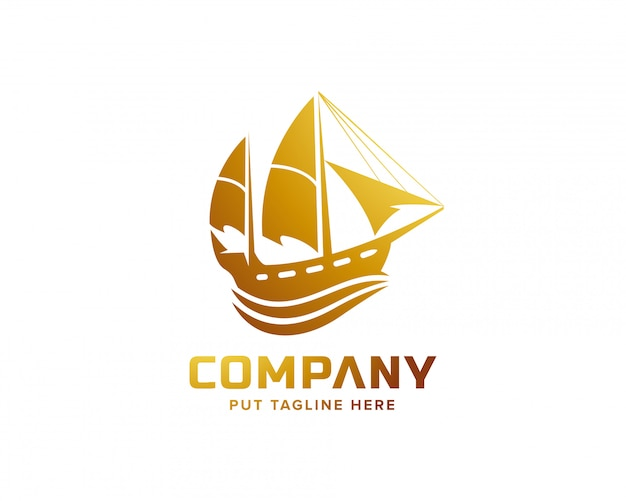 Segelschiff-logo-vorlage für unternehmen