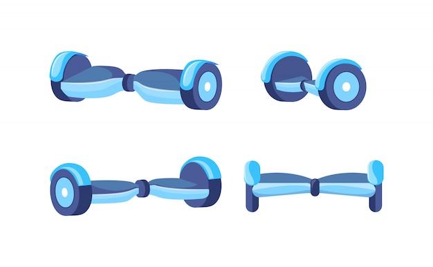 Segway-zweirad-menschentransporter mit selbstausgleich