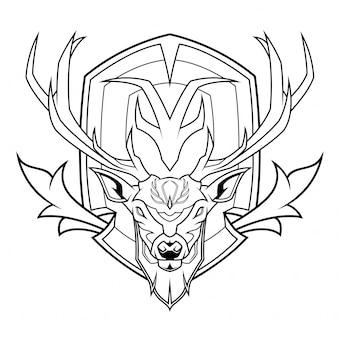 Sehr geehrte head line art illustration