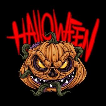 Sehr gruselige halloween monster illustration