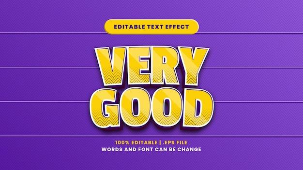 Sehr guter bearbeitbarer texteffekt im modernen 3d-stil