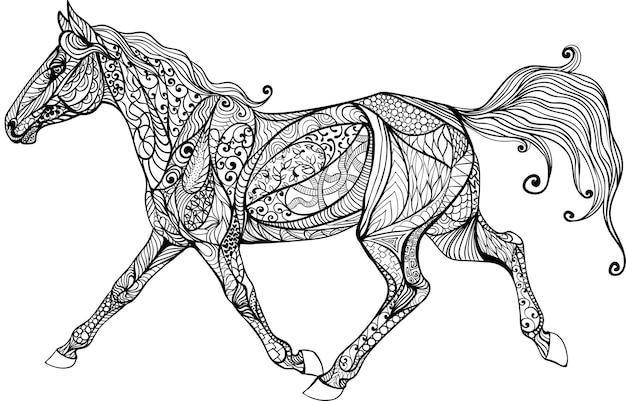 Sehr schwierige färbung mit einem pferd.