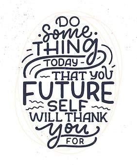 Sei du selbst schriftzug slogan. lustiges zitat für blog-, plakat- und druckdesign. moderner kalligraphietext über selbstpflege.