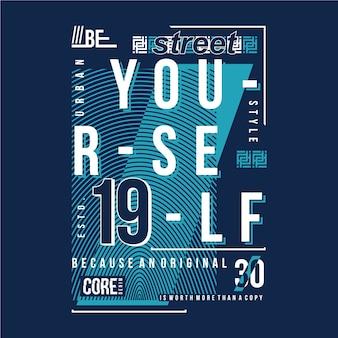 Sei du selbst slogan grafik typografie
