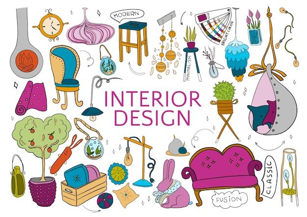 Sei kreativ für die innenarchitektur.