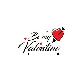 Sei mein typografischer valentinsgruß