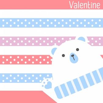 Sei mein valentinsschatz. valentinstagfahne, hintergrund, flieger, plakat mit niedlichen tieren. feiertagsplakat für das scrapbooking. vector schablonenkarte für gruß, dekoration, glückwunsch, einladung