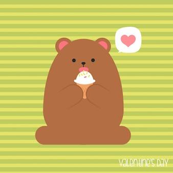 Sei mein valentinsschatz. valentinstagfahne, hintergrund, flieger, plakat mit niedlichen tieren.