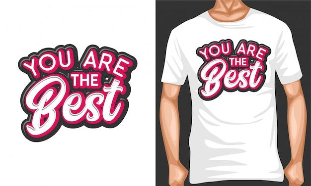 Seien sie die besten motivierenden typografiezitate