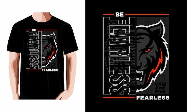 Seien sie furchtlos typografie basketball-t-shirt design premium-vektor