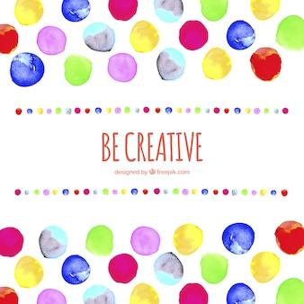 Seien sie kreativ hintergrund