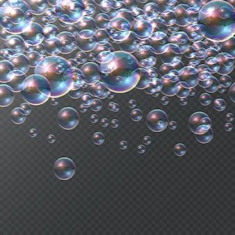 Seifenblase auf transparentem hintergrund