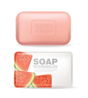 Seifenpackung mit wassermelonengeschmack