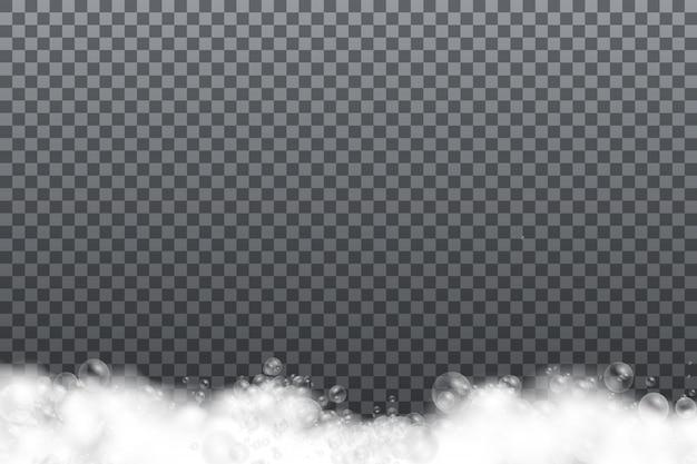 Seifenschaum isoliert auf transparentem hintergrund.