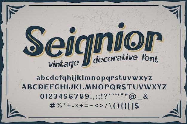 Seignior - vintage schriftart
