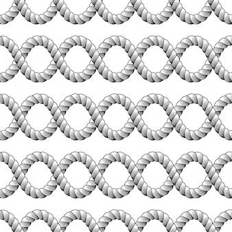 Seil nahtloses muster, trendige tapete. web- oder fischernetzmakro detaillierte endlose illustration.