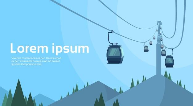 Seilbahn-transport-seil-weise über berg