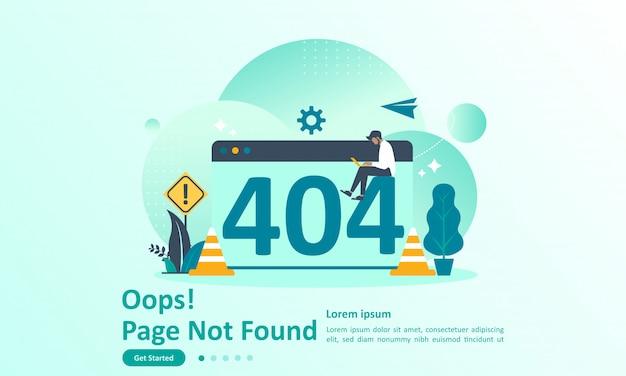 Seite nicht gefunden fehler 404 landing page
