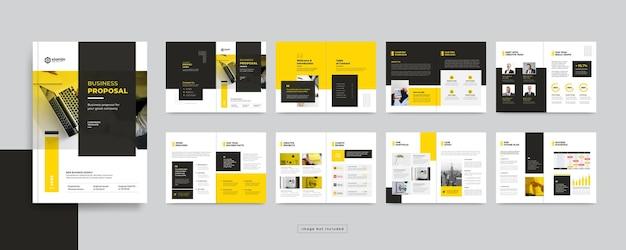 Seiten corporate business broschüre design-vorlage