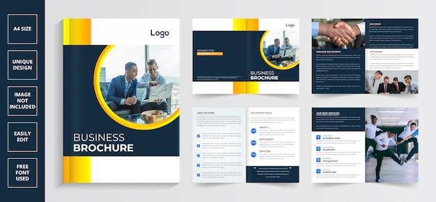 Seiten firmenprofil broschüre, moderne broschüre design-vorlage