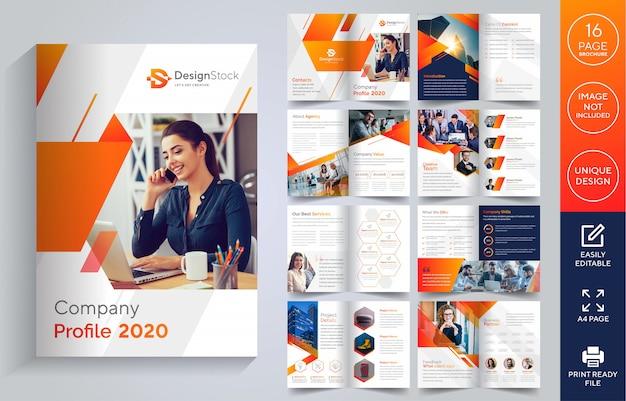 Seiten firmenprofil broschüre