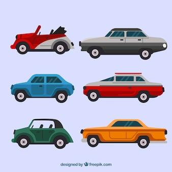 Seitenansicht der verschiedenen autos