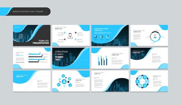 Seitenlayout-design für präsentationsbroschüre, buch, geschäftsbericht und firmenprofil