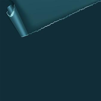 Seitenlocke mit schatten auf leerem blatt papier