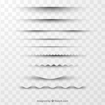 Seitenteiler-sammlung ohne hintergrund