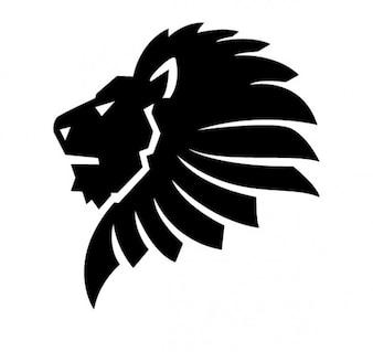 Seitlichen Löwenkopf