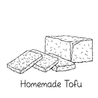 Selbst gemachte tofu-umrissikone
